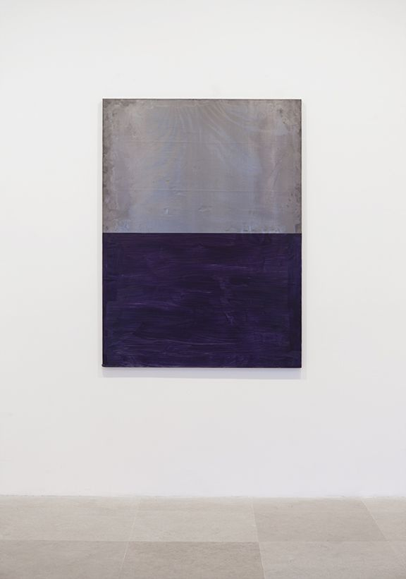 Untitled, 1992 Acrylic on lead on wood 59 x 43 1/4 inches