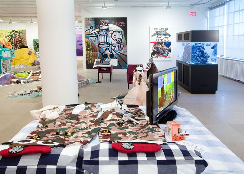 Bjarne Melgaard, Installation view, The Synthetic Slut: A Novel by Bjarne Melgaard, Greene Naftali, New York, 2010