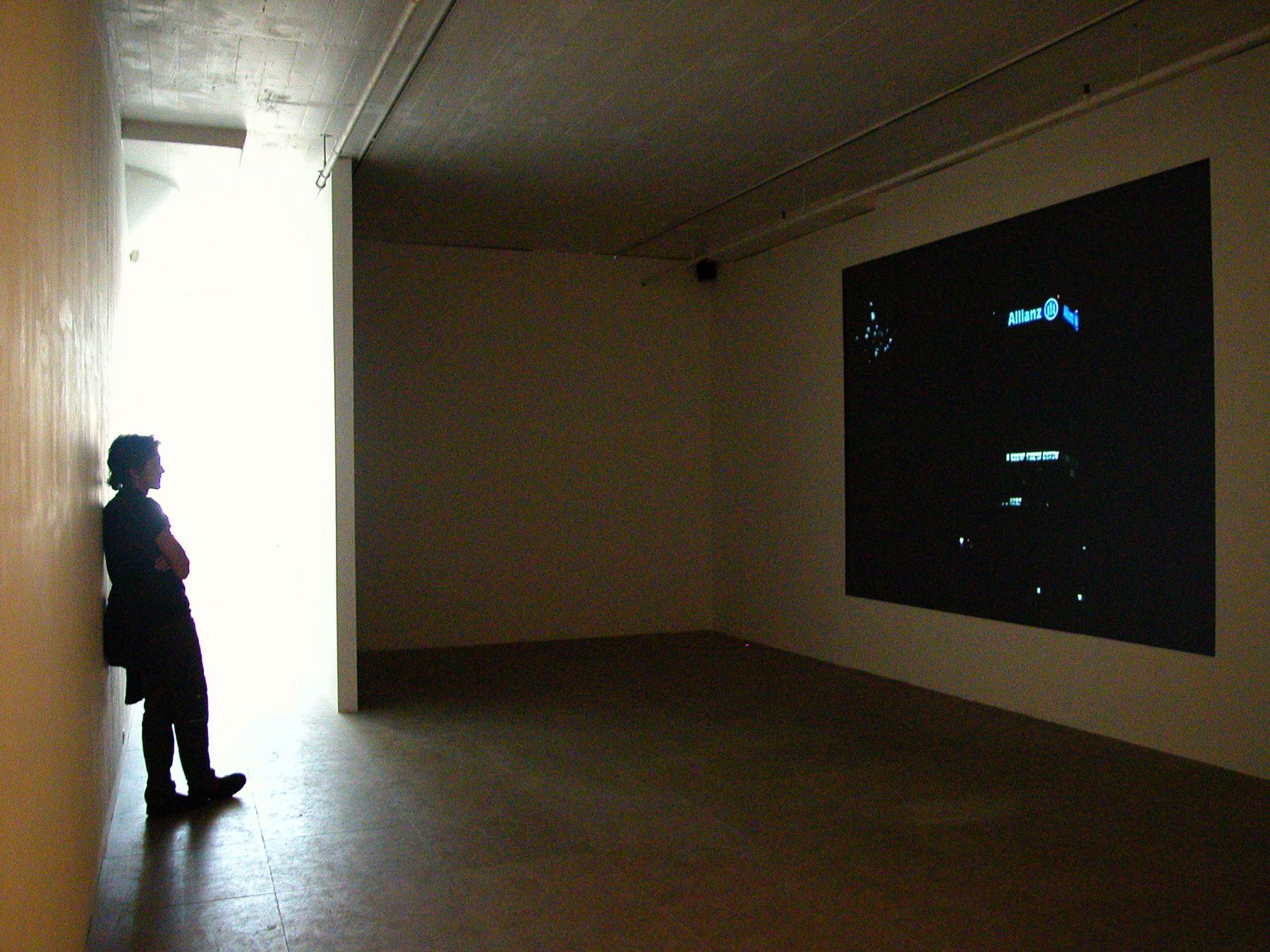 Paris, 2004, DVD, 33:30, Installation view, Greene Naftali, New York, 2005