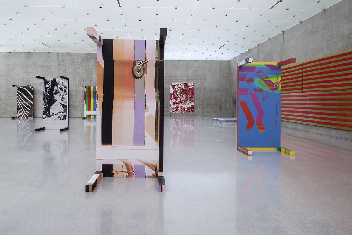 Installation view, WADE GUYTON, GUYTON\WALKER, KELLEY WALKER  Kunsthaus Bregenz, Bregenz, 2013