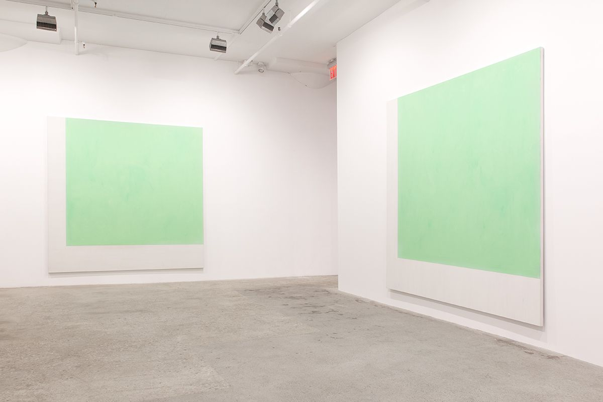 Installation view, Greene Naftali, New York, 2015