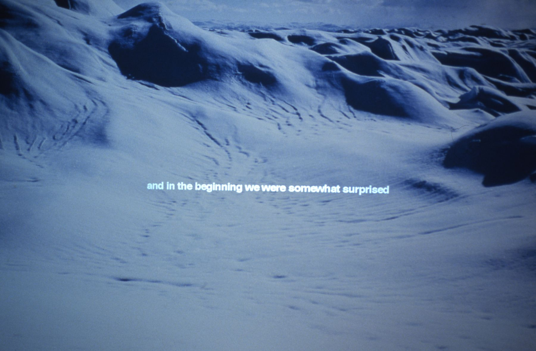 Nordenskiold & the Icecap, 1999-2000, slide installation, duration: 12 minutes, edition of 5