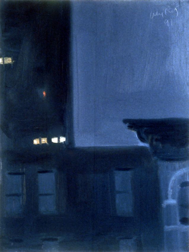 11 P.M. #2, 1991, oil on board, 12 x 9 inches