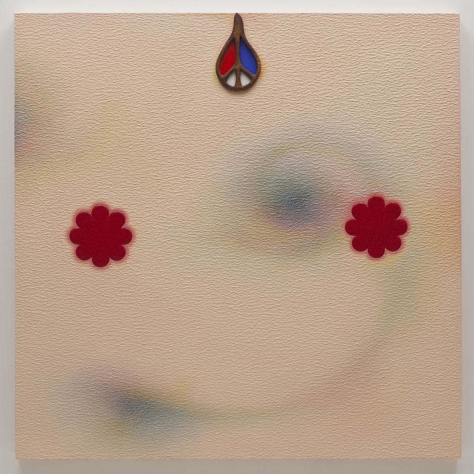Linda Stark  Peace, 2009  Oil and polyclay on canvas over panel  36 x 36 inches (91.4 x 91.4 cm)