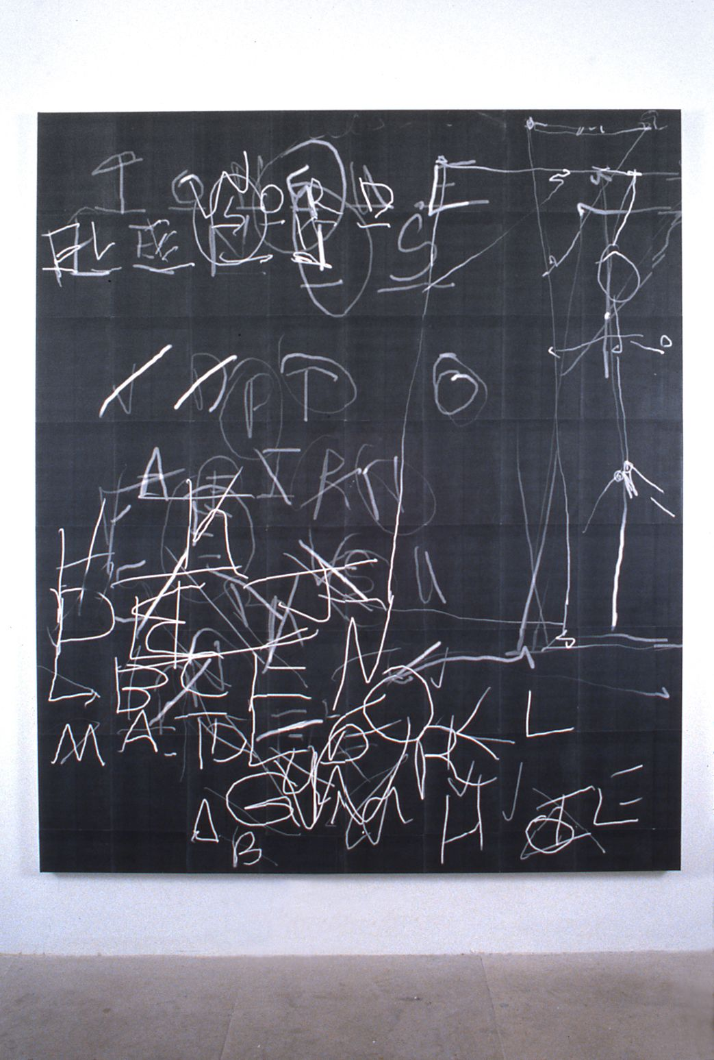 Luke Murphy, Bad Game, 1996, laser prints, acrylic mediums on canvas, 78 x 66 inches
