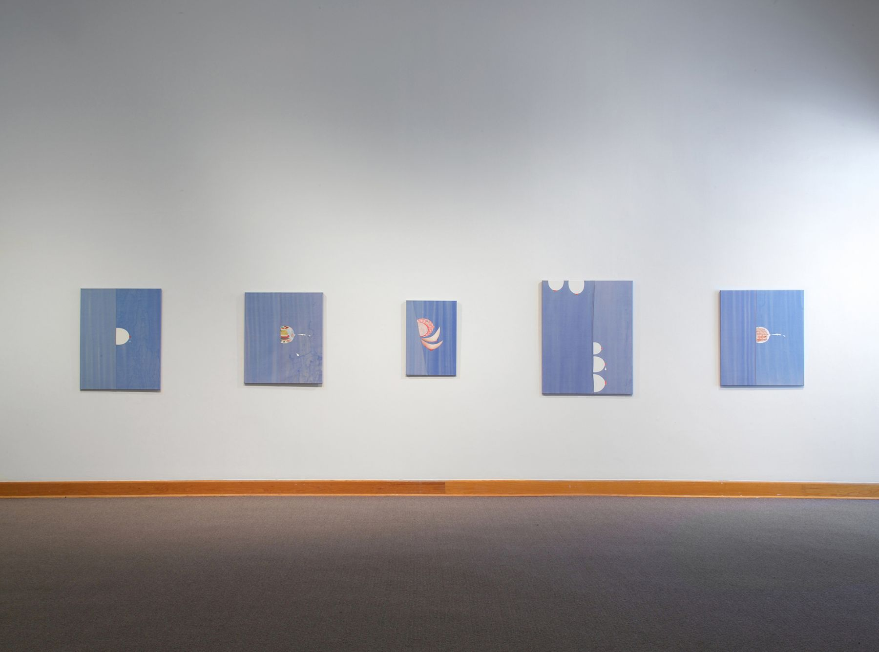 Monika Baer, Installation view, Williams College Museum of Art, Williamstown, MA