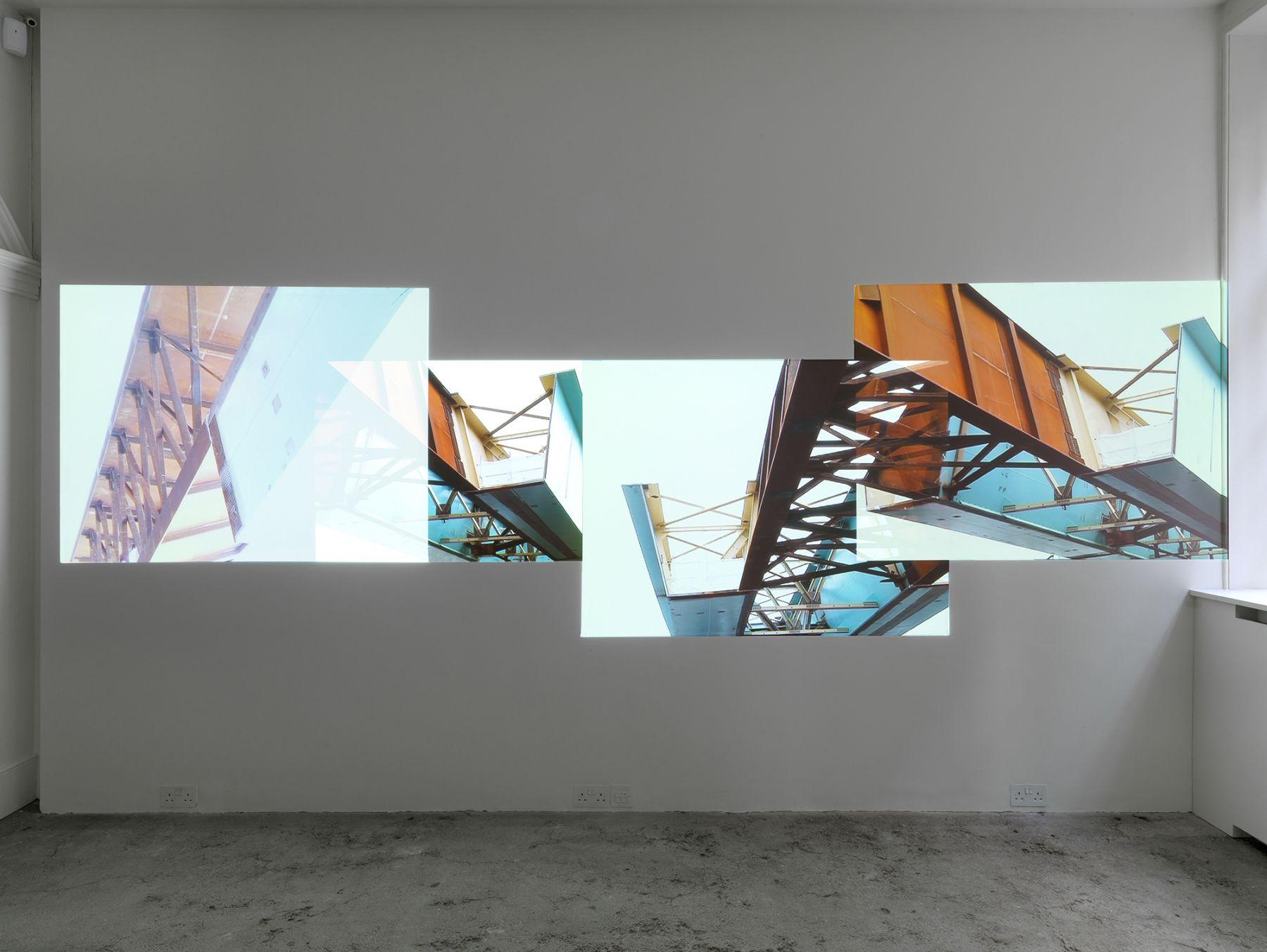 Installation view, Hilary Lloyd, Raven Row, London, 2010