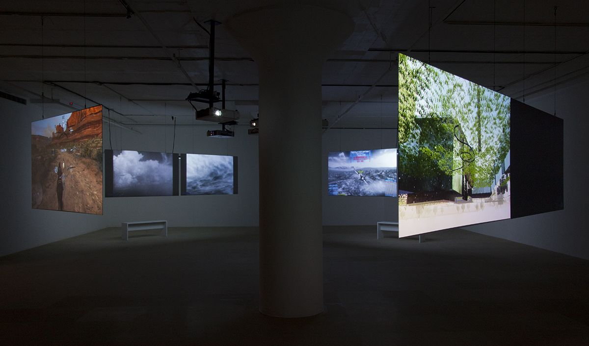 Parallel I-IV, 2012-14, 2 two-channels video, 2 one-channel video, 4 parts video installation: 16 min, 9  min, 7 min, 11 min
