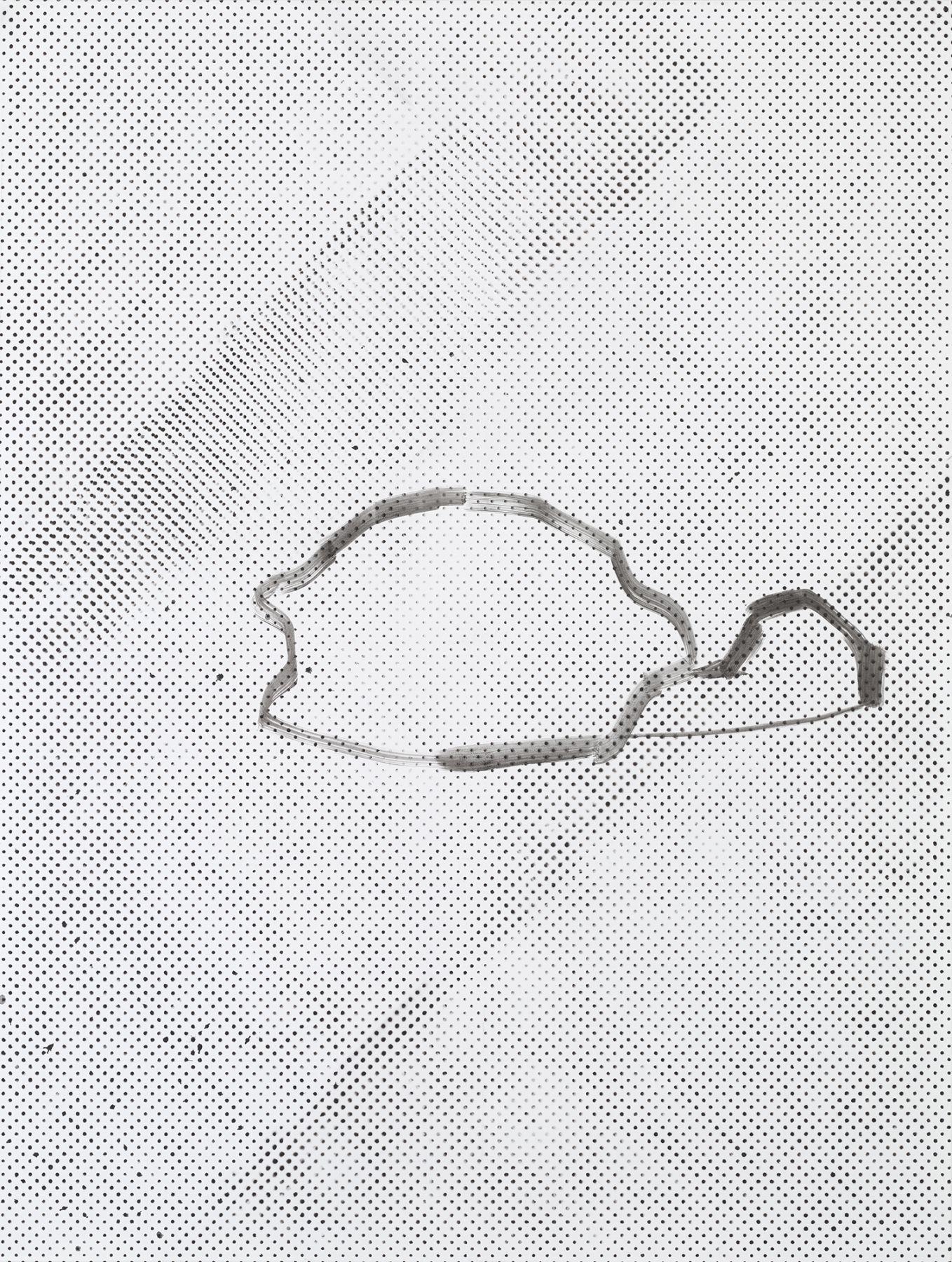 Michael Krebber MK.286, 2015 Lacquer on canvas  78 3/4 x 59 1/8 inches (200 x 150.2 cm)