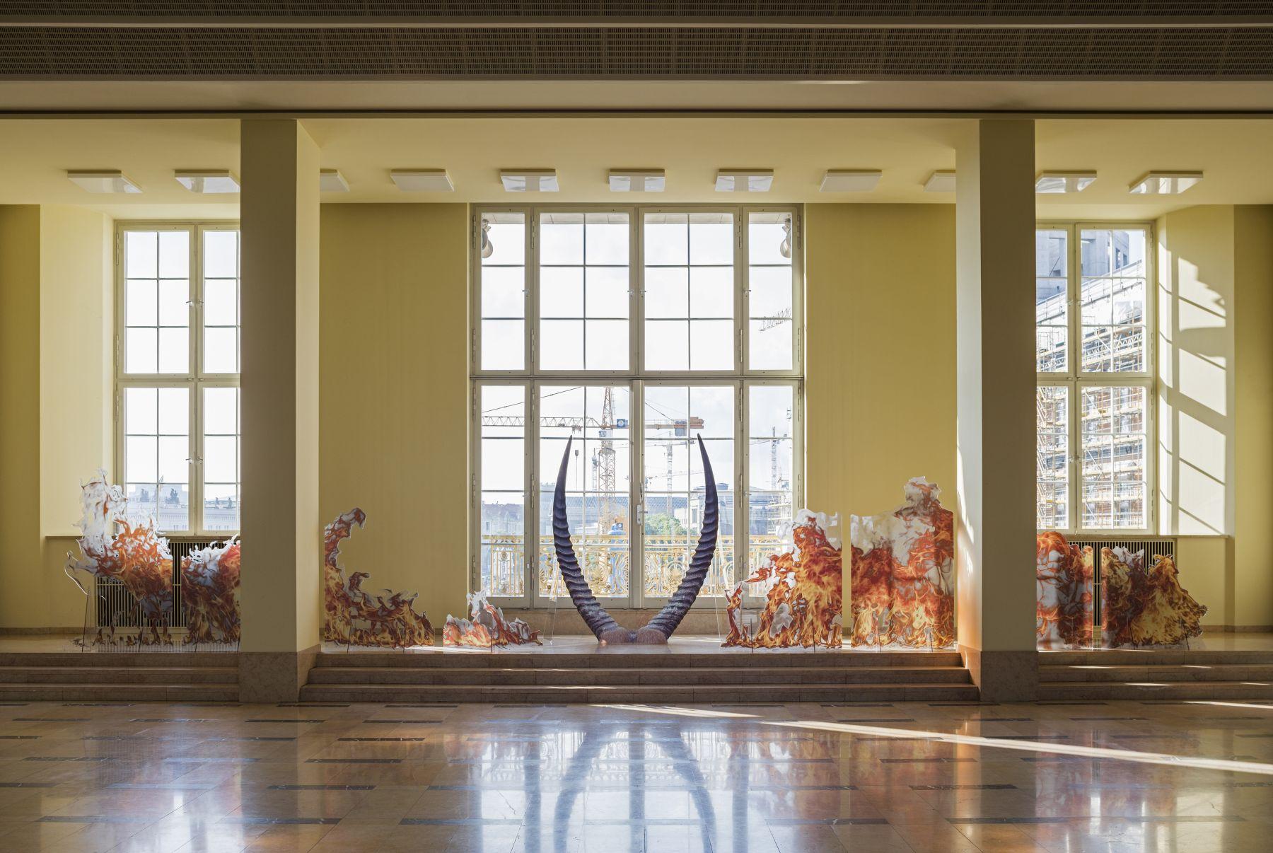 Katja Novitskova, Installation view, 9th Berlin Biennale, ESMT, Berlin, 2016