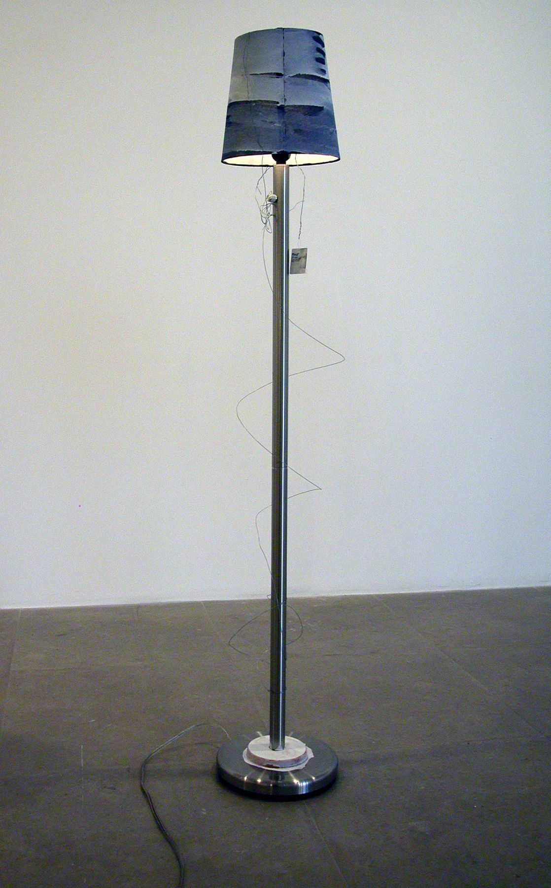 The (non-profit) Idiot, 2006, mixed media lamp, 58 x 10 x 10 inches