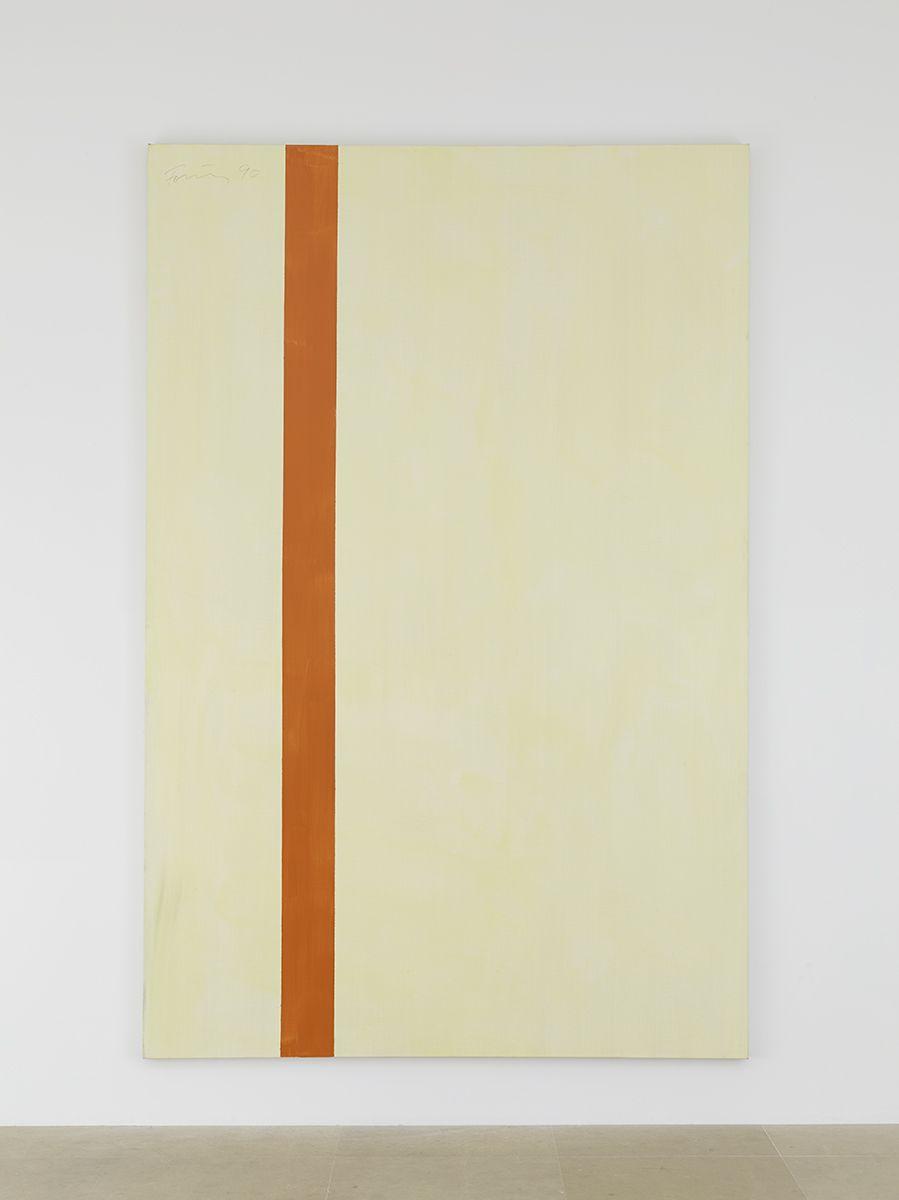 Günther Förg  Untitled (Rivoli), 1990 Acrylic on canvas  104 3/8 x 68 7/8 inches (265.1 x 174.9 cm)