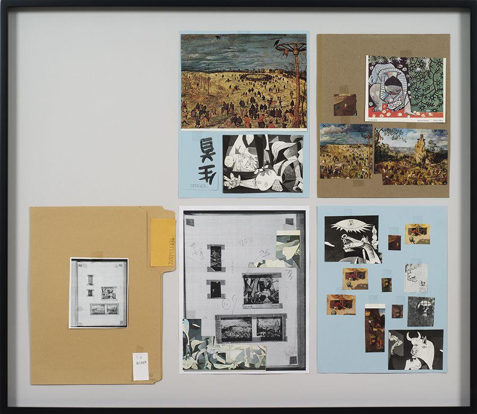 Richard Hawkins Ankoku 82 (Resource folder: Pestilence), 2012 Collage 27 1/8 x 31 1/4 x 1 1/2 inches (68.9 x 79.4 x 3.8 cm)