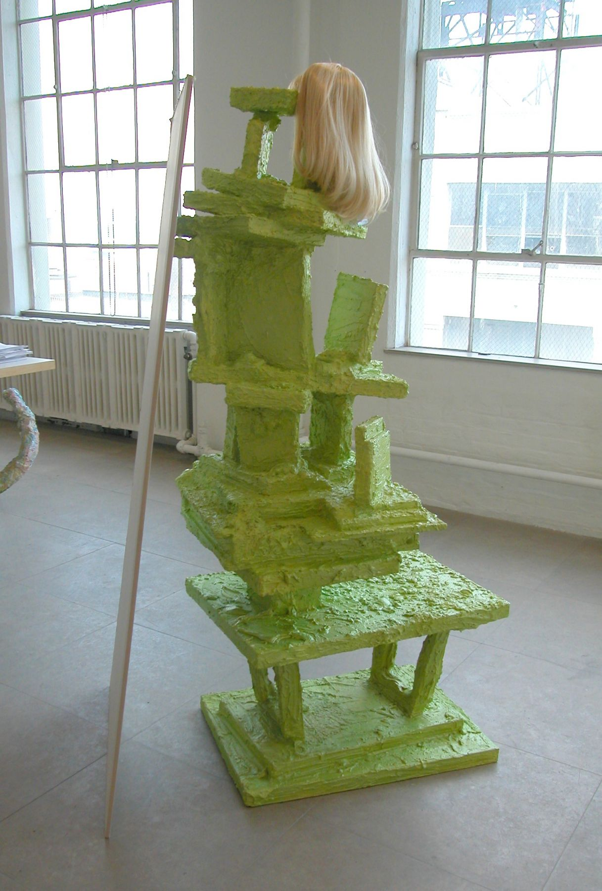 Cindy (Green), 2004,  mixed media sculpture,  72 x 37 x 31 inches