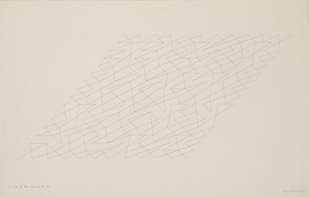 It is one of those secrets of the sea, 1978, ink and pencil on paper
