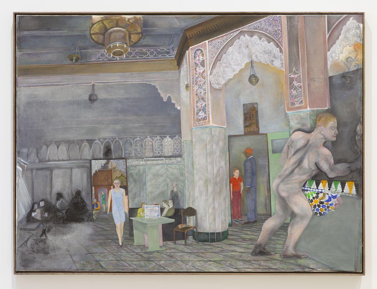 Katharina Wulff Untitled, 2016 Oil on canvas 51 3/8 x 68 3/4 inches (130.7 x 174.5 cm) Frame: 52 5/8 x 69 5/8 x 2 3/8 inches (133.7 x 176.8 x 6 cm)