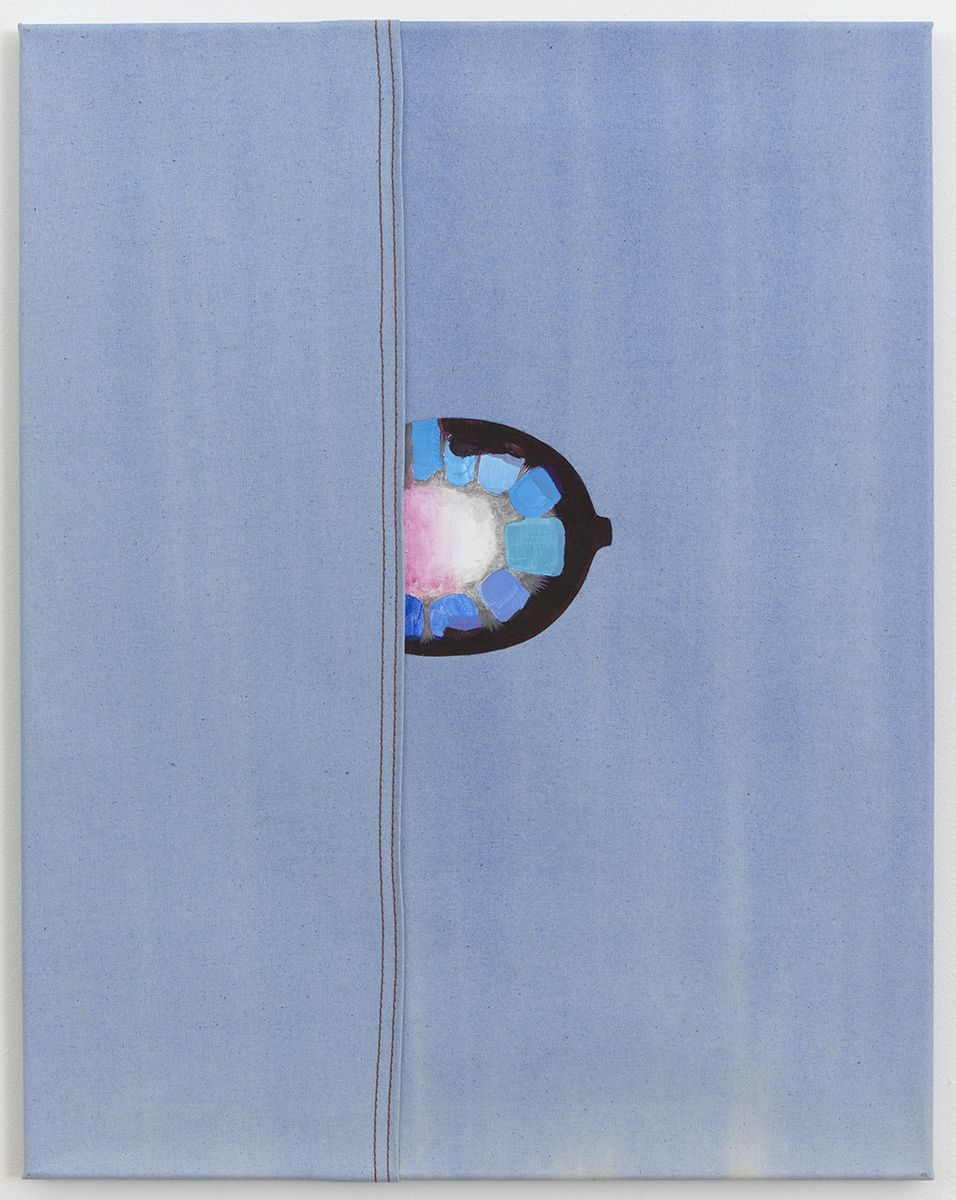 Monika Baer Untitled, 2008 Watercolor, acrylic, oil on canvas, seam 26 x 20 1/2 inches (66 x 52.1 cm)