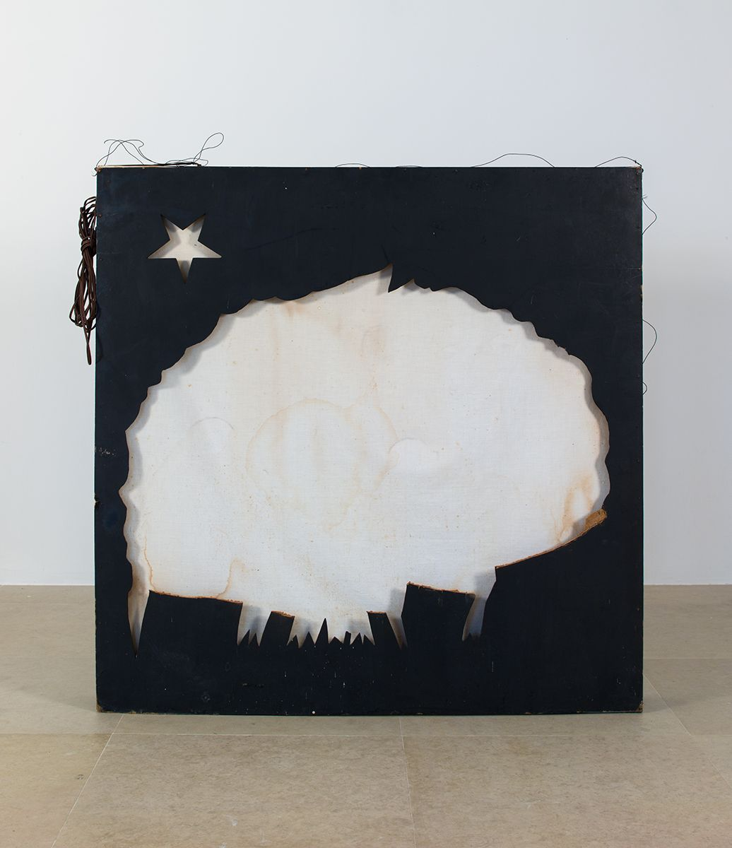 Gedi Sibony, First There Was This, 2013, Light box, 51 x 54 x 10 inches