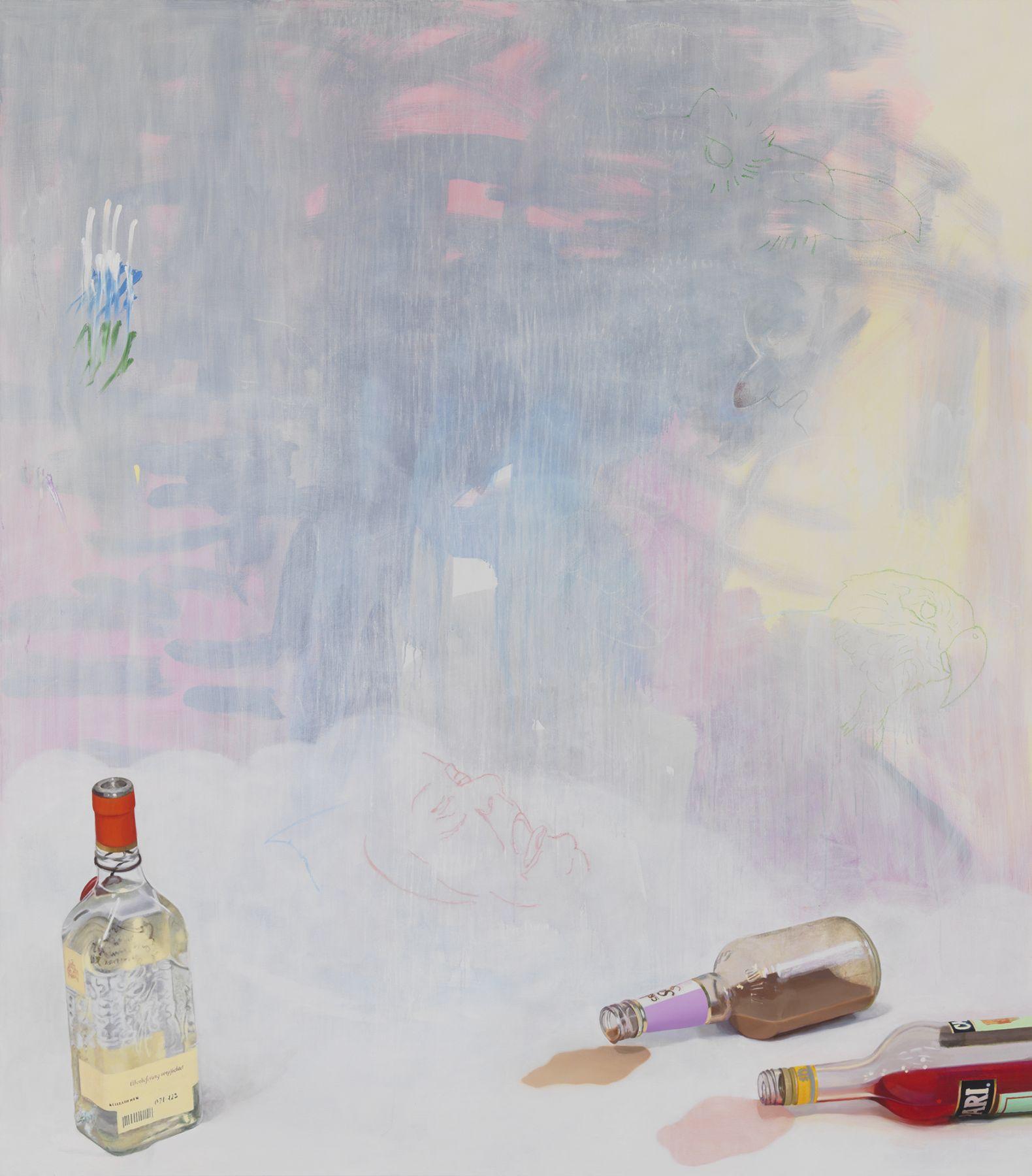 Monika Baer Überlieferung verpflichtet, 2014 Acrylic and oil on canvas 98 3/8 x 86 5/8 inches (250 x 220 cm)