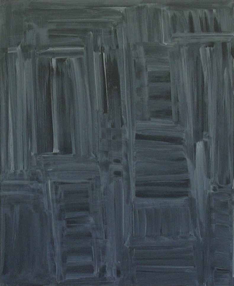 Untitled, 2001 Acrylic on canvas 43 3/8 x 35 3/8 inches