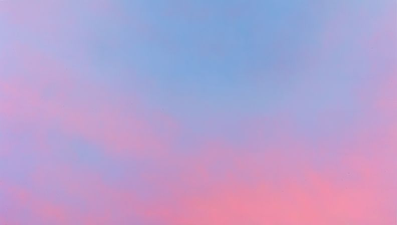 Alex Israel, Sky Backdrop, 2013, Acrylic on canvas, 192 x 108 inches