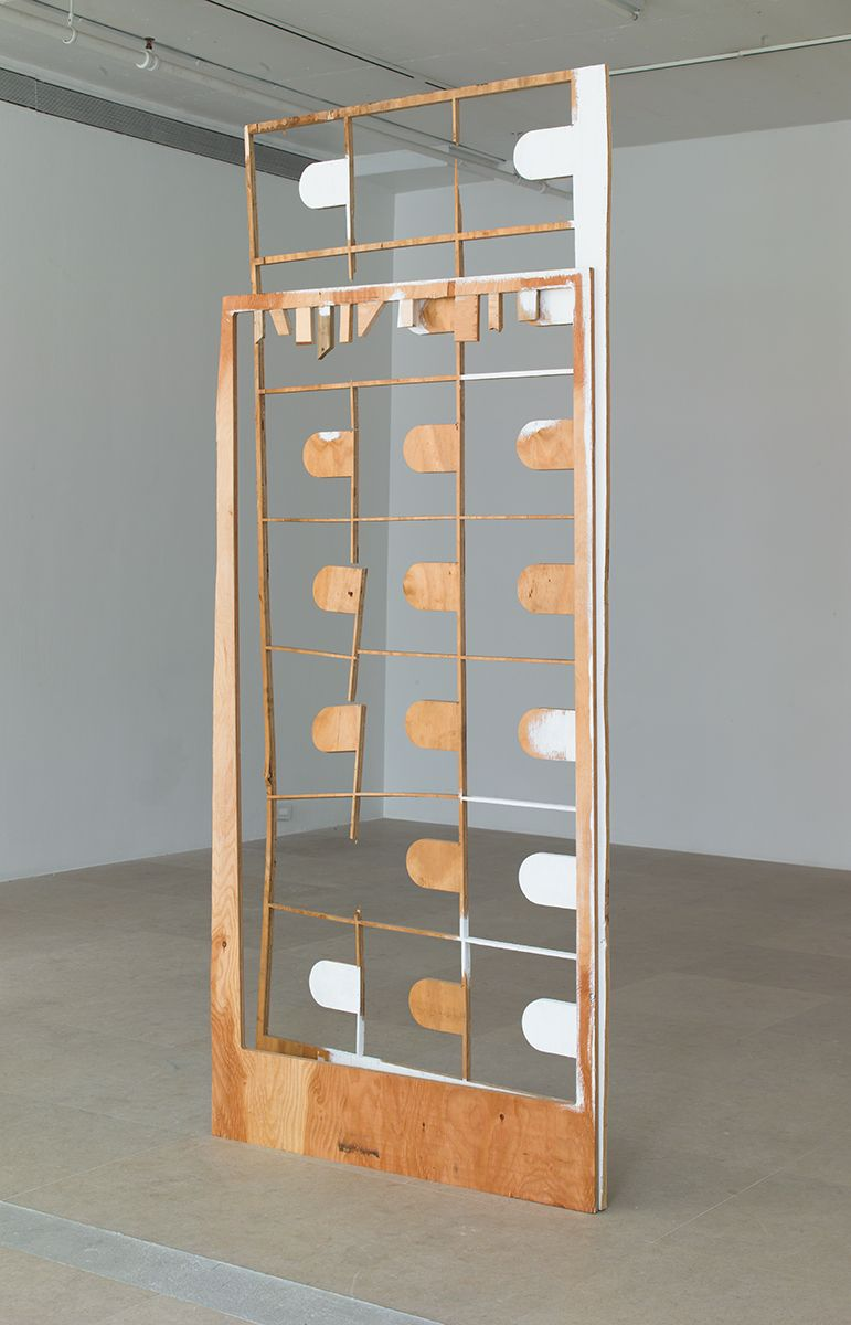 Gedi Sibony, All Her Teeth Are Made of Slate, 2013, Wood, paint, screws, 96 x 40 3/4 x 8 inches