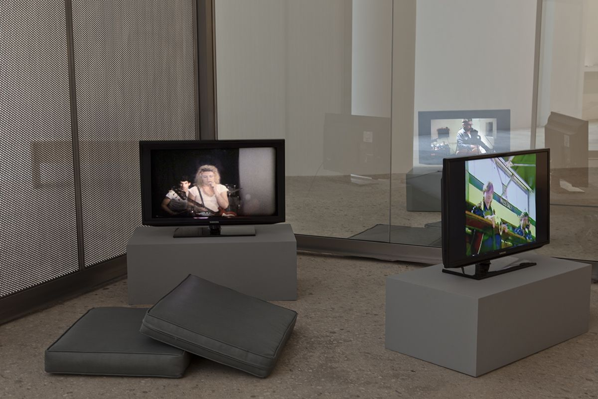 Dan Graham Design for Showing Videos, 2014 Reflective glass, stainless steel 93 x 227 x 283 inches (236.2 x 576.6 x 718.8 cm)