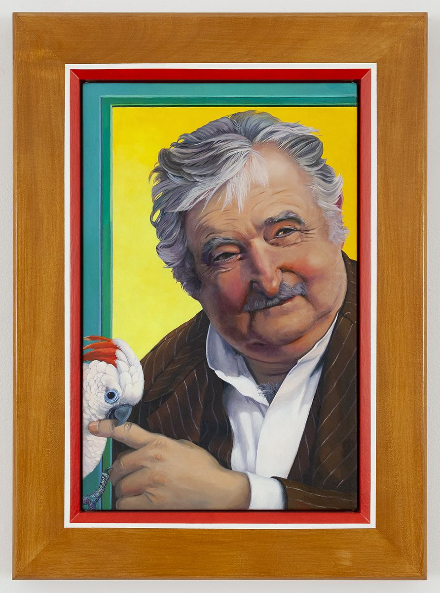 Lukas Duwenhögger  Jose Mujica, 2016  Oil on canvas  Framed: 23.62 x 17.32 inches (60 x 44 cm)