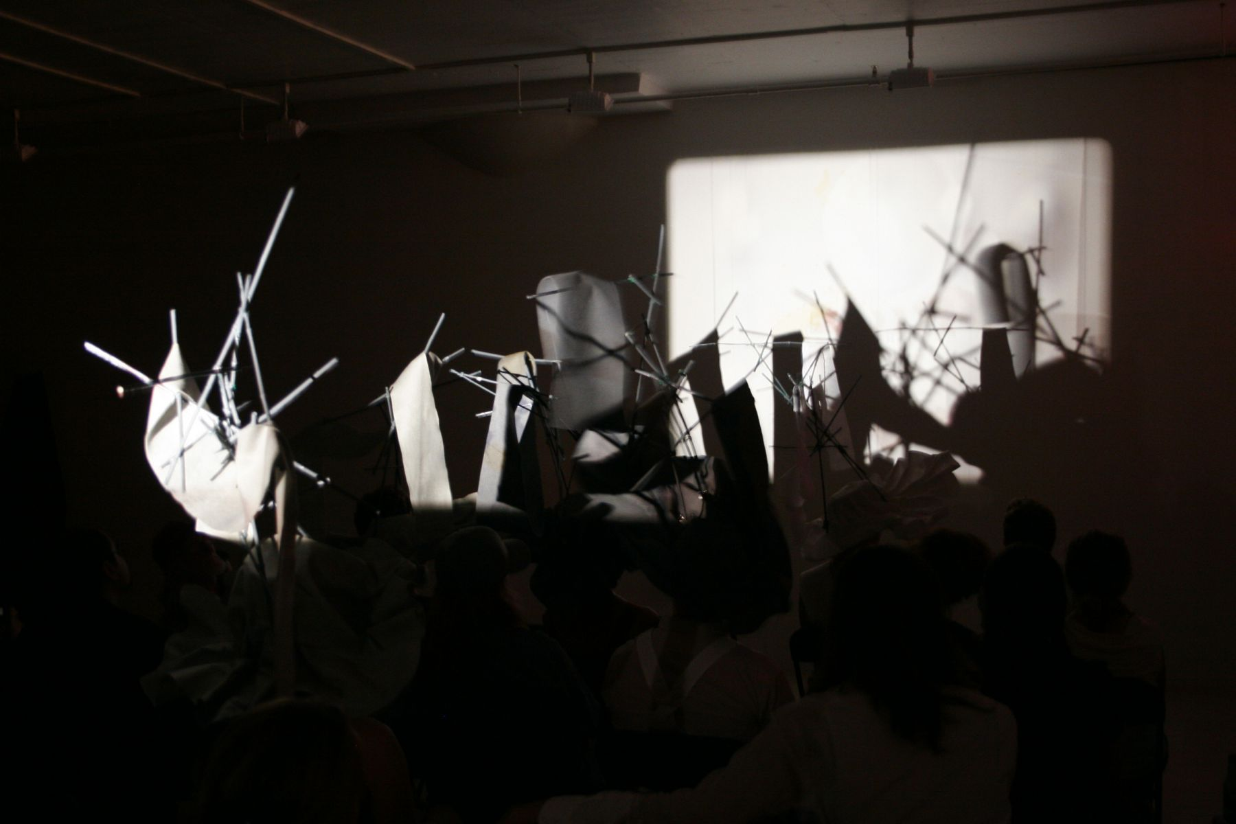Oliver Husain, Rushes For 5 Hats, Performance view, Greene Naftali, New York, 2007