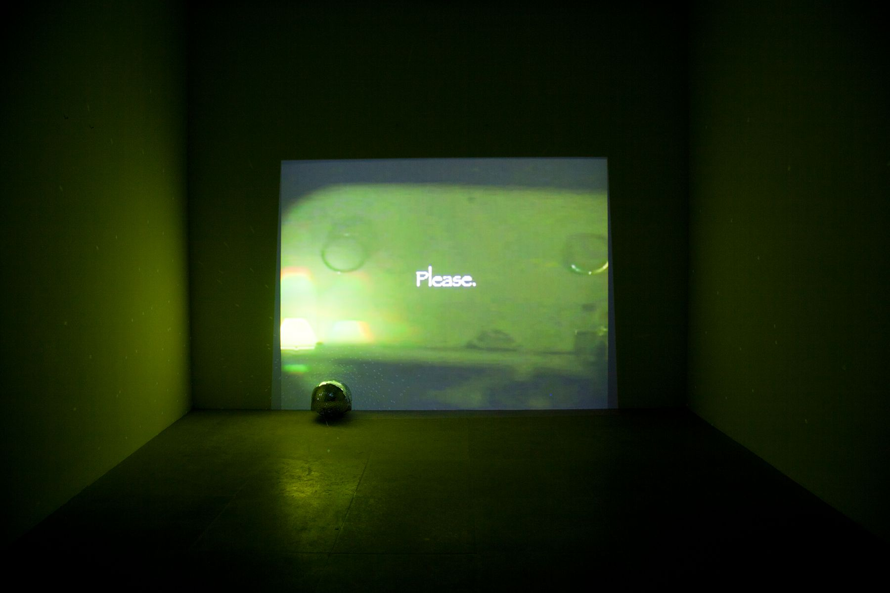 Trisha Baga, Flatlands, 2011, Video and disco ball, Dimensions variable