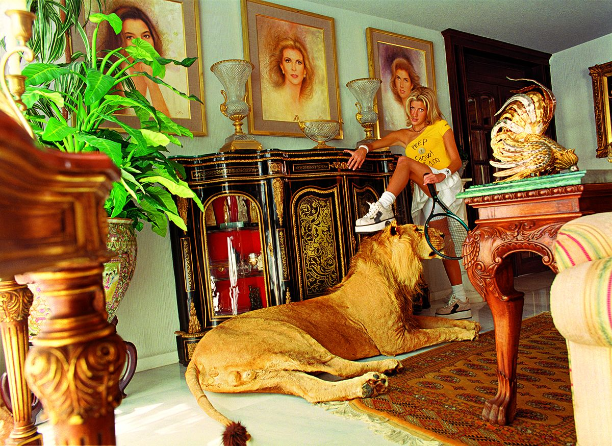 Daniela Rossell Untitled (Ricas y Famosas) Paulina and Lion, 1999 C-print 30 x 40 inches (76.2 x 101.6 cm)