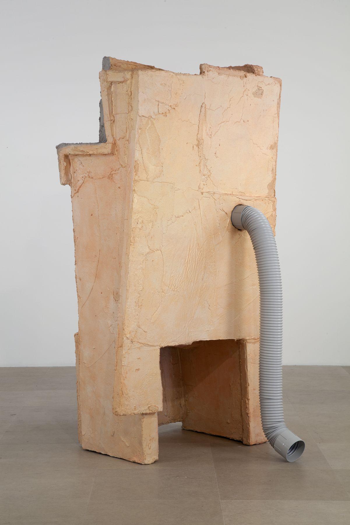 Rachel Harrison Industrial Poems, 2012 Wood, polystyrene, cement, acrylic, and plastic ventilation tube 85 x 46 x 46 inches (215.9 x 116.8 x 116.8 cm)