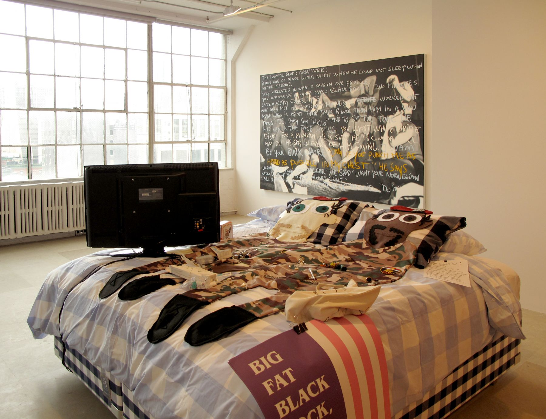 Untitled, 2010, mixed media, 52 x 90 x 84 inches, Installation view, The Synthetic Slut: A Novel by Bjarne Melgaard, Greene Naftali, New York, 2010