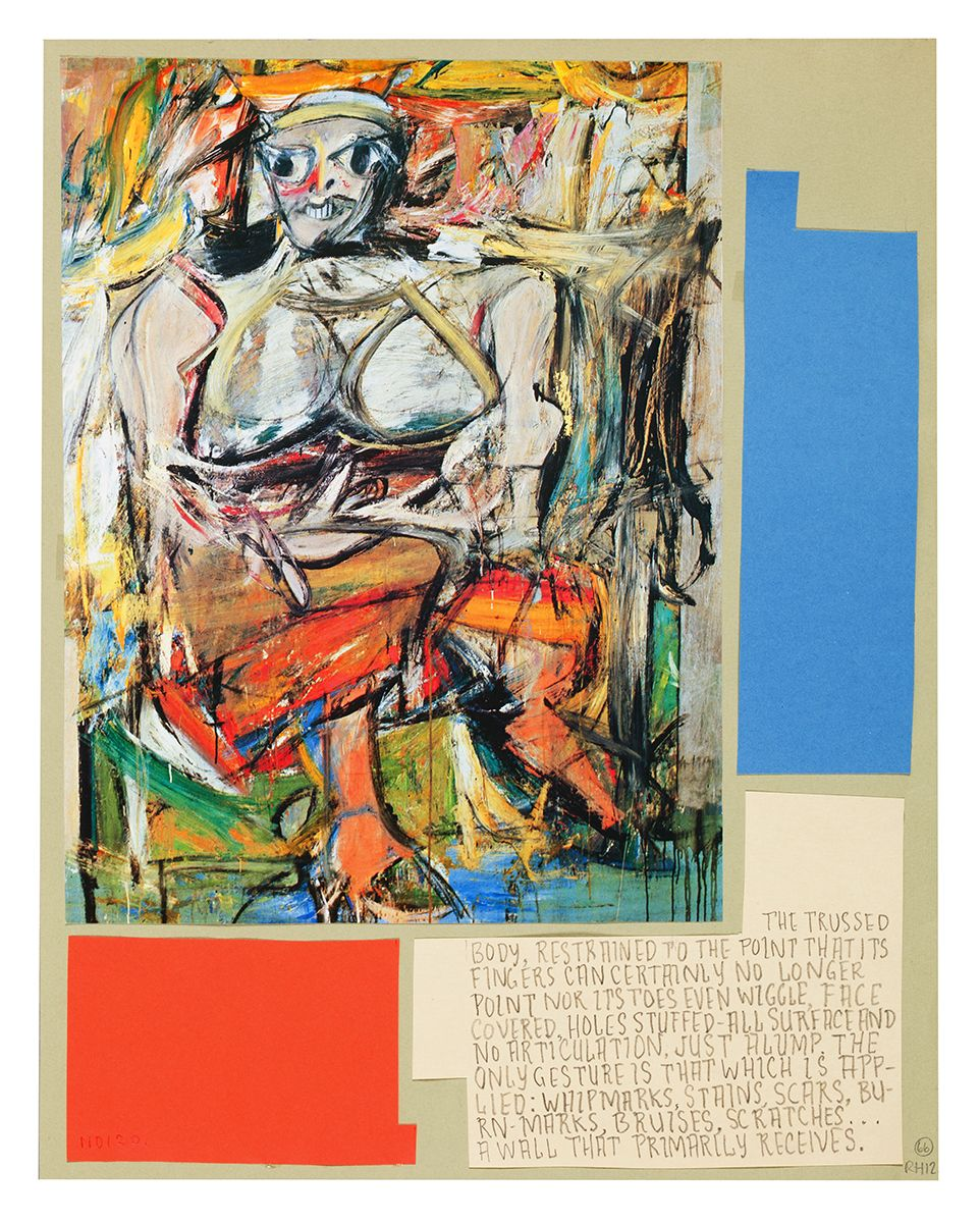 Ankoku 66 (Woman – ass in front), 2012, Collage, 19 1/8 x 18 1/4 x 1 inches (48.6 x 46.4 x 2.5 cm)