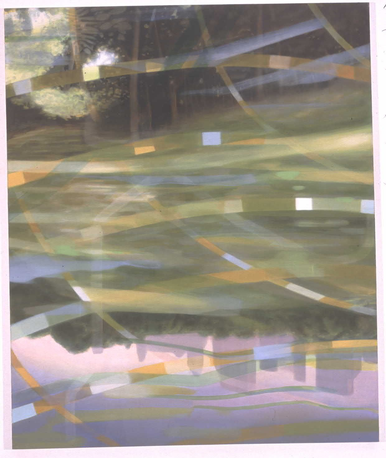 August Evening Walkout III, 2003, Oil on canvas, 72 x 60 inches