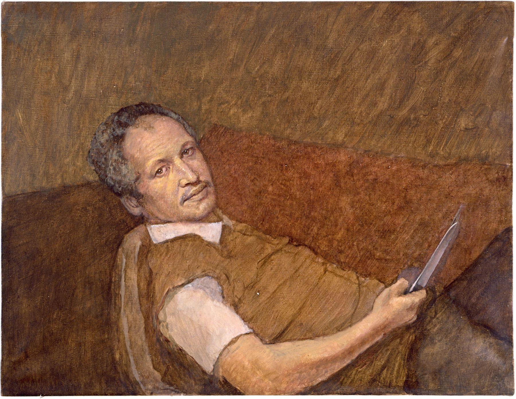 Portrait of the Avant-Garde (Mark Rothko Committing Suicide), 2006, Oil on linen, 26 x 30 inches