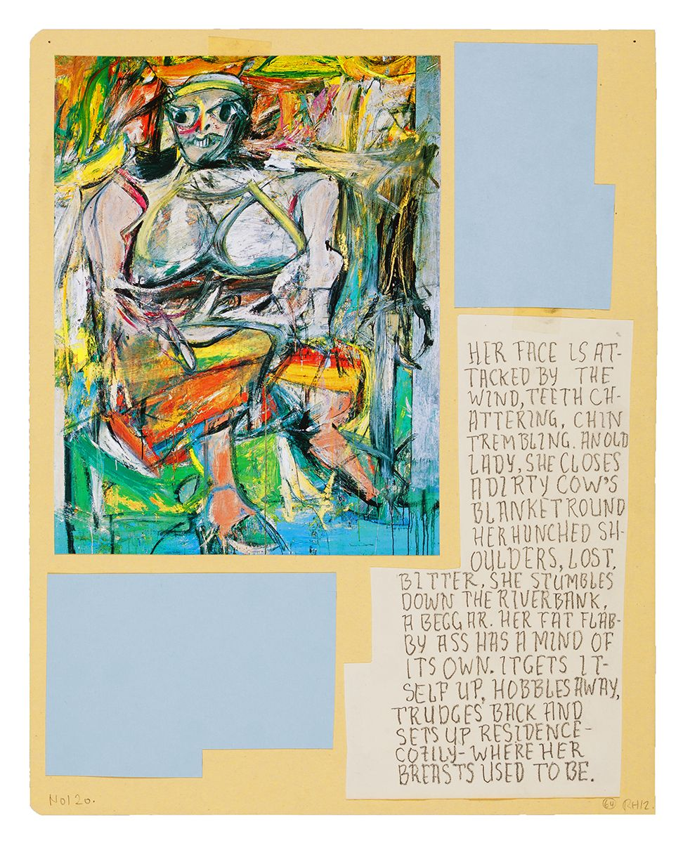Ankoku 64 (Woman – ass in front), 2012, Collage, 18 1/8 x 15 1/2 x 1 inches (46 x 39.4 x 2.5 cm)
