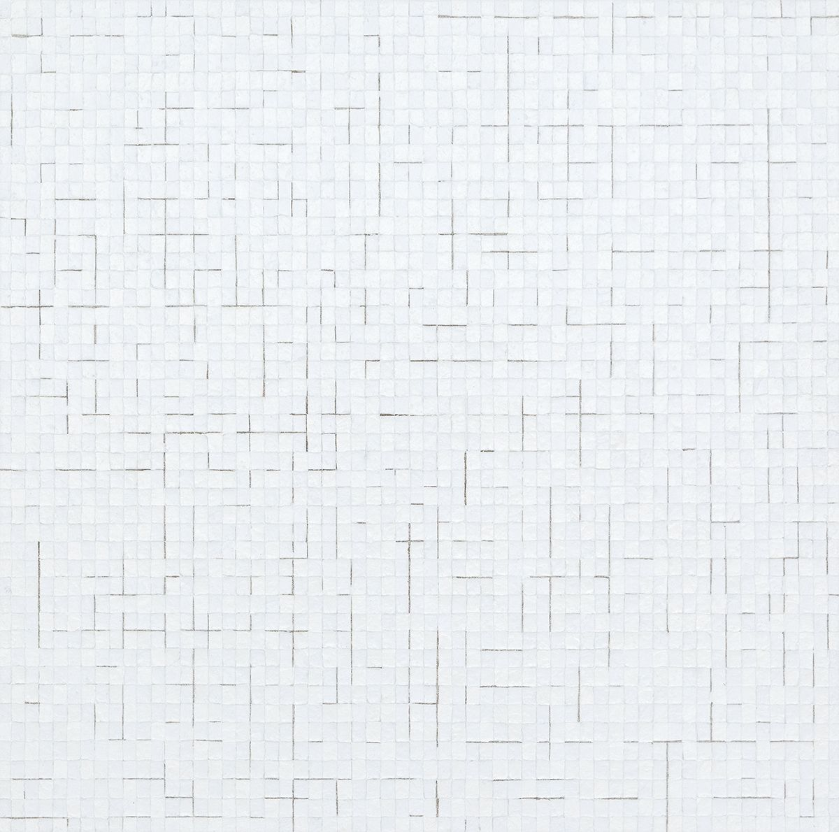 Chung Sang-Hwa Untitled 2014-7-24, 2014 Acrylic and kaolin on canvas 39 3/8 x 39 3/8 inches (100 x 100 cm)