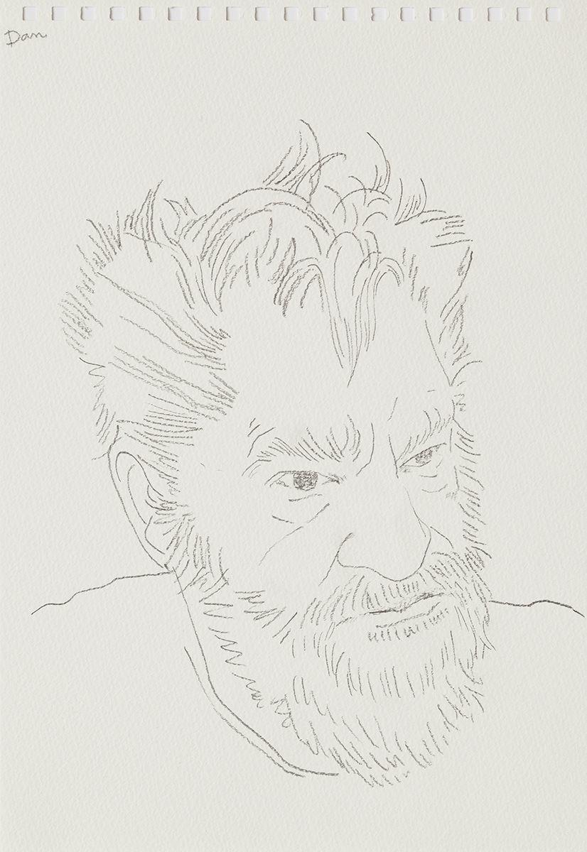 Mieko Meguro Dan, 2016 Graphite on paper Image: 9 7/8 x 6 3/8 inches (25.1 x 16.5 cm)  Frame: 12 1/2 x 9 1/2 x 1 1/8 inches (31.7 x 24.1 x 3.0 cm)
