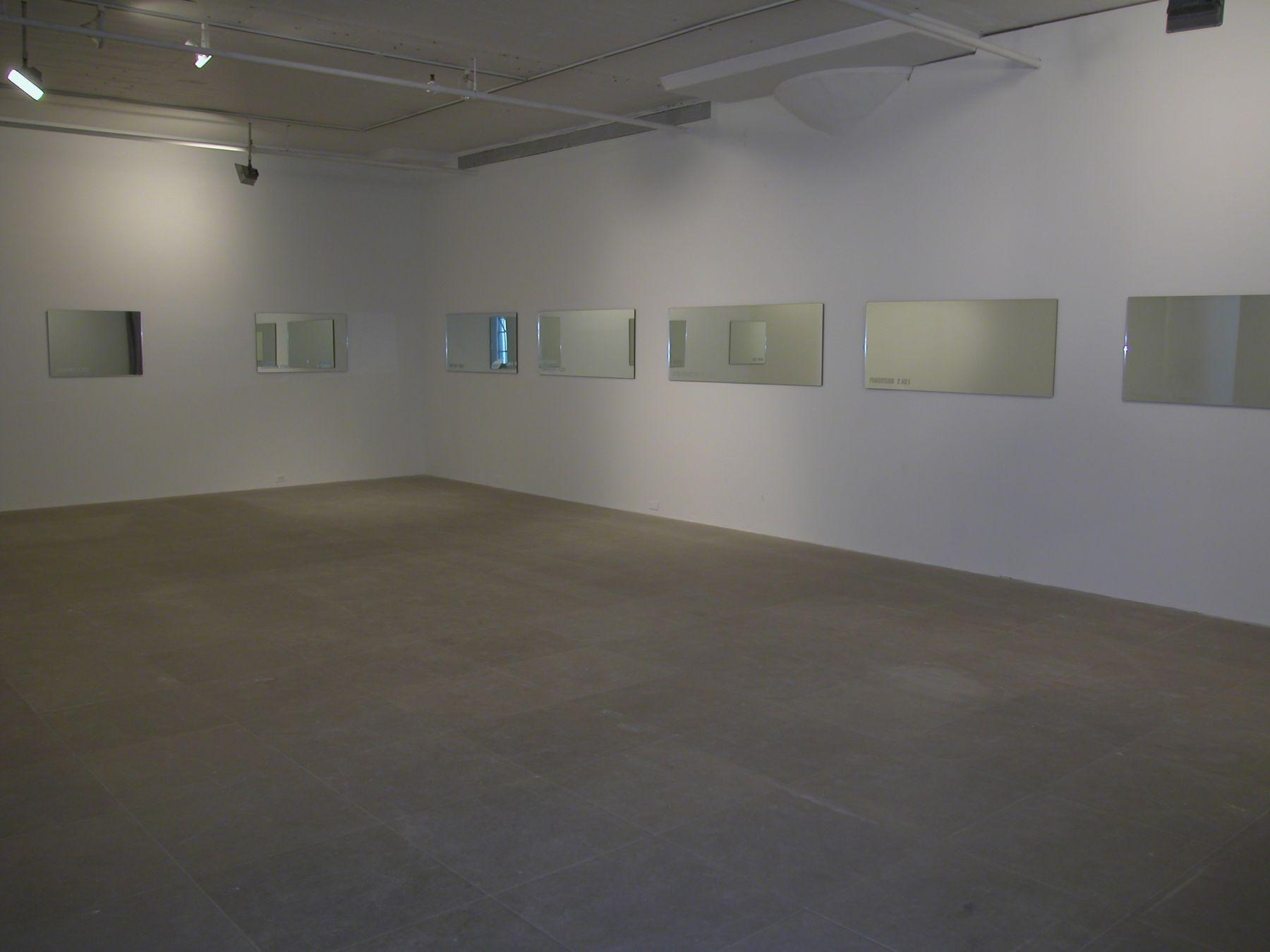 Installation view, Greene Naftali,  New York, 2005