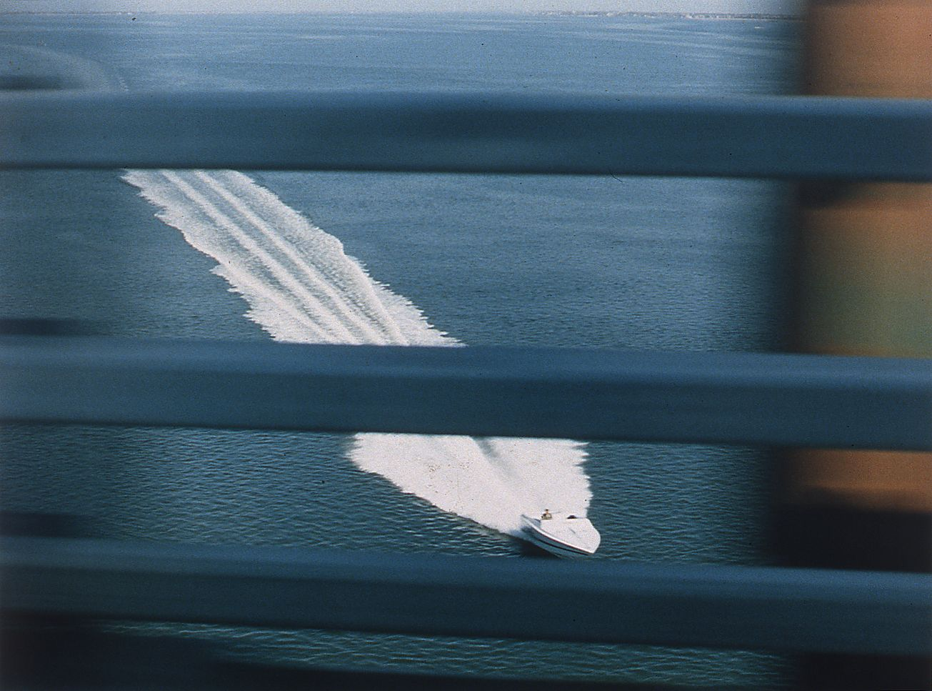 Josephine Meckseper, The Great Escape (Speedboat), 1996, c-print, 30 x 40 inches