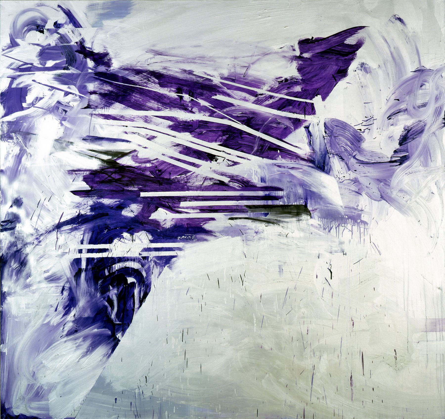 Dark Star, 2006, Oil and enamel on linen, 90 x 96 inches