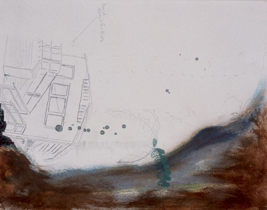 Julie Becker, Untitled, 1999 ink, pencil, mixed media on paper, 11 x 8 1/2 inches