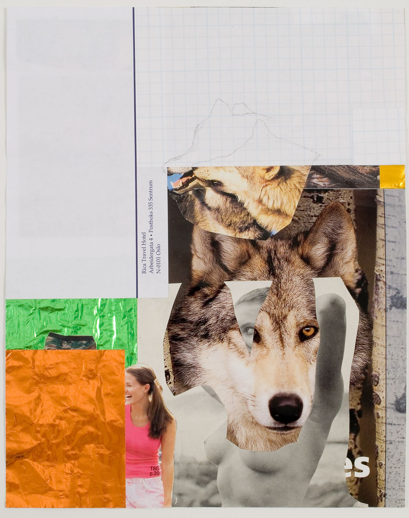 Jim Drain, Untitled, 2007, mixed media on paper, 11 x 8 1/2 inches