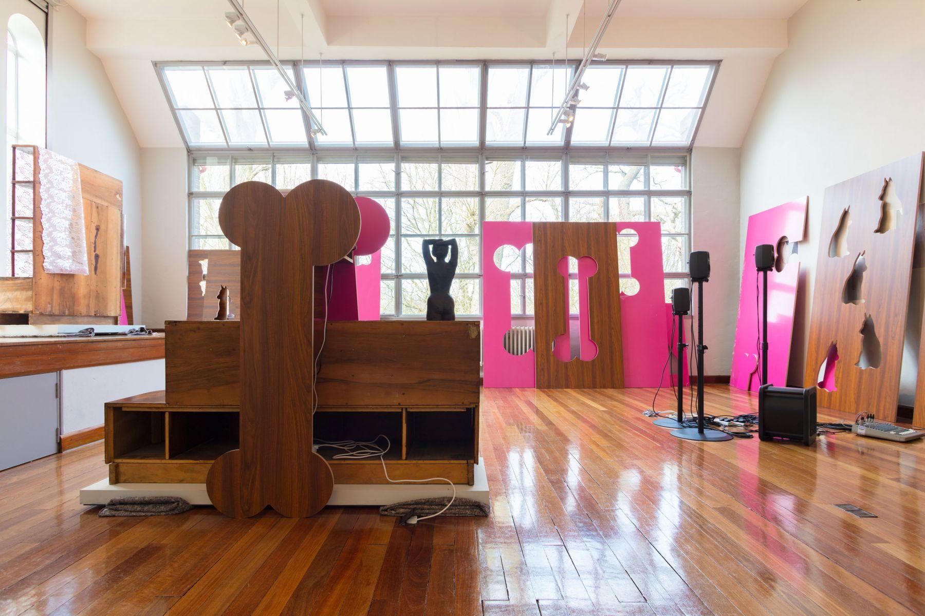 Hilary Lloyd, Installation view, Awful Girls, Dorich House Museum, Kingston University, London