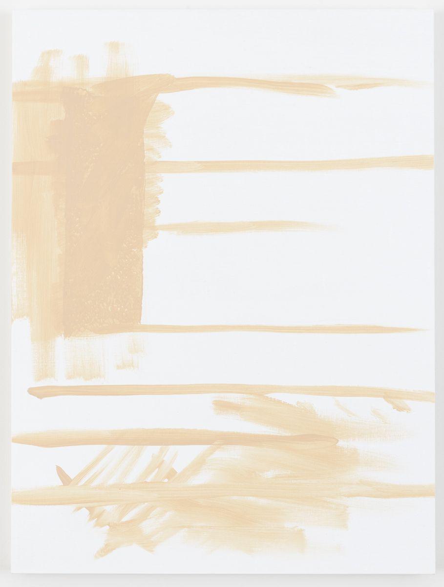 Michael Krebber Herbes de Provence, Le drapeau américain, 2018 Acrylic on canvas 40 x 30 inches (101.6 x 81.3 cm)