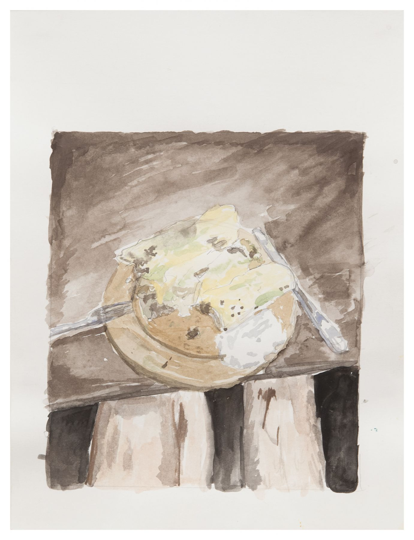 Matthew Langan Peck February Enchiladas, 2015 Watercolor and pencil on paper Paper: 11 7/8 x 9 7/8 inches (30.2 x 25.1 cm) Frame: 13 3/4 x 10 7/8 inches (34.9 x 27.6 cm)