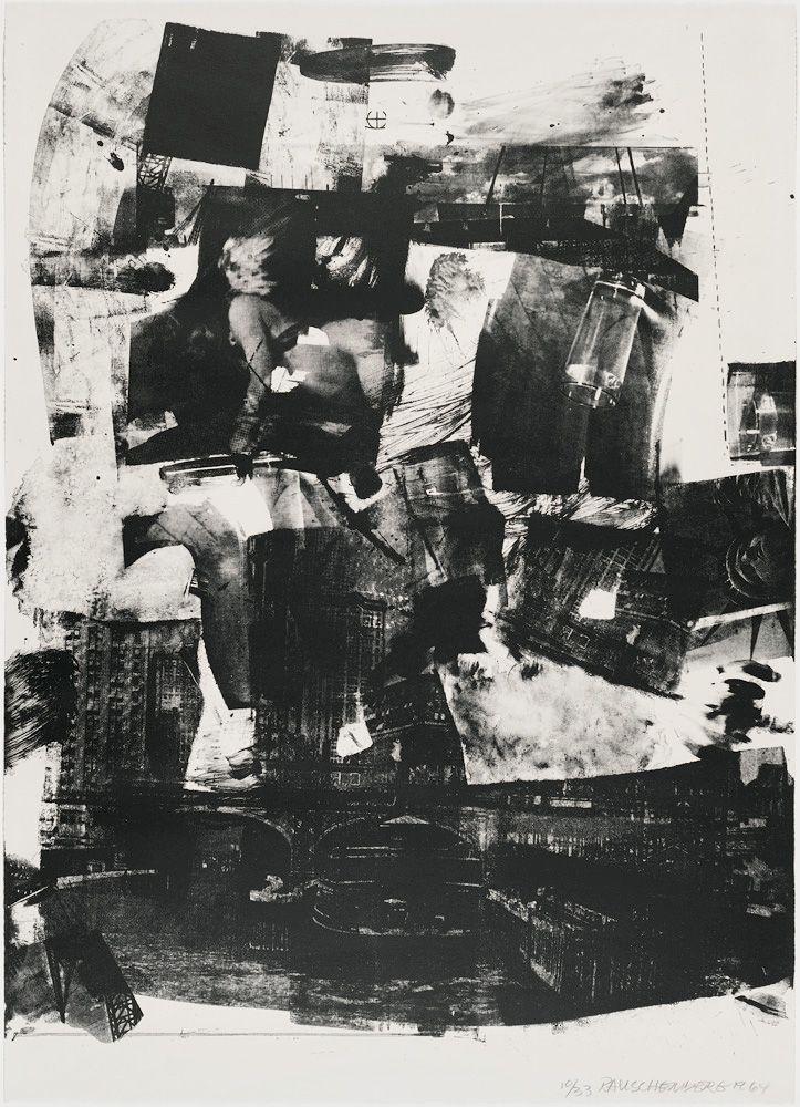 Robert Rauschenberg Kip Up, 1964 Lithograph 41 1/4 x 29 5/8 in. / 104.7 x 75.3 cm. Edition of 33
