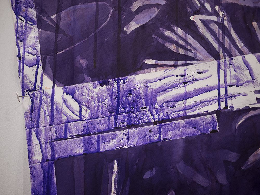 detail of ink drawing