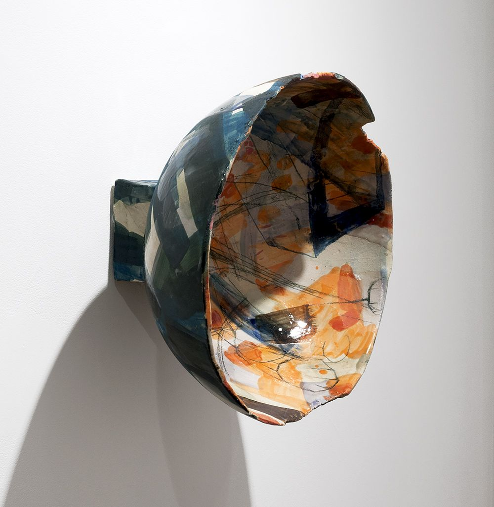 Rachael Gorchov Tunnel Stair, 2017 Glazed ceramic ​12 x 13 1/2 x 7 1/2 in. / 30.5 x 34.3 x 19 cm.